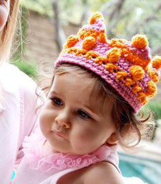 Crochet Kid's Crown Doing a whole set of crowns in various styles and colors or my Isabelle's dress up set for Christmas!!!