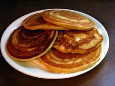 MMMMM.......favorite in our house, add mini chocolate chips and we are ready to go.  Quick tip make double batch, freeze 2 pancakes per baggie.  Wahoo quick school day breakfast pop in microwave for 1 min 20 sec. :)