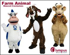 From cows to goats to chickens...   www.olympus-mascots.com