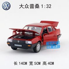 Gift for baby 1pc 1:32 14cm delicacy Volkswagen Poussan Santana classic car Acousto-optic alloy model home decoration boy toy