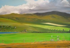 Overberg Landscape 4  Oil on canvas  20 x 30 inches  Sold.