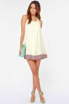 LULUS Exclusive Sorbet Soiree Cream Shift Dress at LuLus.com!