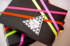 Modern Geometric Triangle Favor Tags Ham and Pea Design and Paperie Lee Bird Photography 550x365