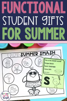 End of Year Gifts (Plus Free Download) for speech and language therapy