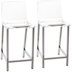Sanborn Clear Acrylic 30-Inch-H Set of 2 Bar Stools -