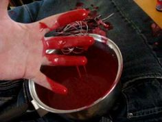 No stain, non sticky fake blood recipe
