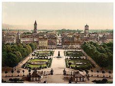 Karlsruhe, general view, Baden, Germany]