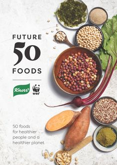 Report by Knorr and WWF about 50 foods that make healthier people and a healthier planet