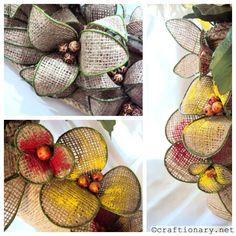 DIY Make flowers with burlap (bendable flowers)