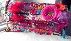 Colored clutch bag Boho style