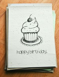 New Ideas Birthday Drawing Ideas Hand Drawn Cute Birthday Cards, Dad Birthday Card, Bday Cards, Diy Birthday, Drawn Birthday Cards, Printable Birthday Cards, Birthday Cupcakes, Birthday Ideas, Happy Birthday Drawings