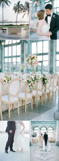 Lavish Palm Beach Wedding With a Touch of Emerald Green