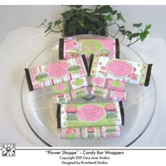 Do it yourself, Gift idea, Hersheys printable candy bar covers - wrappers, for Mother's Day , Birthday, Thinking of you and more. Includes blanks for making customized Hershey Bar Wrappers - Cottage - Flower Shop Theme - Gina Jane Designs - DAISIE Company