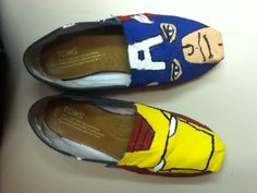As much as I dont like Toms, Id probably wear Captin America Toms, but mostly I want Thor Toms;)