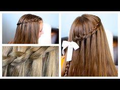 The Dutch Waterfall Braid video tutorial {5 minutes} | Popular Hairstyles #WaterfallBraid #Hairstyles