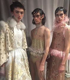 Genderless fashion by Alejandro Palomo. #nyfwm (: @thealexbadia)  via WOMEN'S WEAR DAILY MAGAZINE OFFICIAL INSTAGRAM - Celebrity  Fashion  Haute Couture  Advertising  Culture  Beauty  Editorial Photography  Magazine Covers  Supermodels  Runway Models
