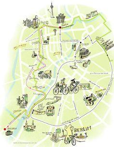 Map of Berlin from mundodosmapas.art.br - the site of Nik Neves and Marina Camargo
