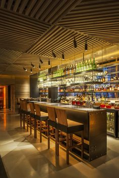 Roka Mayfair Restaurant, London designed by Studio Glitt