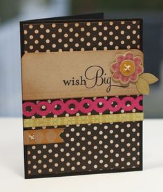Wish Big card by Lisa Johnson for Papertrey Ink (January 2012).