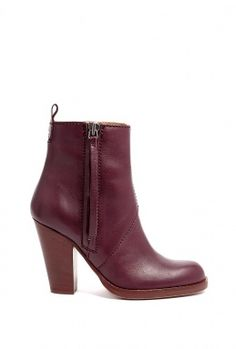 Burgundy Exclusive Colt Zip Up Ankle Boot by Acne