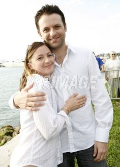 Samantha Gibb and Adam Gibb during Maurice Gibb Memorial Unveiling at Maurice Gibb Memorial Park in Miami Beach, Florida