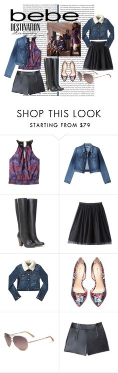 """Destination Runway with bebe : Contest Entry"" by luvdance11 ❤ liked on Polyvore featuring Bebe and beiconic"