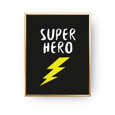 Super Hero Print Kids Print Nursery Poster Super by LovelyPosters