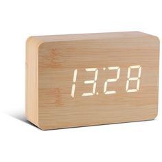 Gingko Electronics Beech Brick Click Clock found on Polyvore