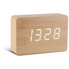 Gingko Electronics - Beech Brick Click Clock (99 AUD) ❤ liked on Polyvore featuring home, home decor, clocks, decor, accessories, fillers, white digital alarm clock, white alarm clock, alarm clock and battery digital clock