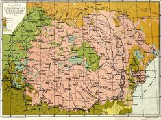 Ethnographic map of Romania and its surroundings Old Maps, Historical Maps, Vintage World Maps, Diagram, Europe, War, Bucharest, Historia, Romania