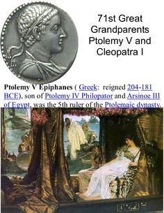 1a 204 - 181 bc Egypt V Ptolemy V and Cleopatra 71st gg.jpg