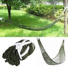 Trixes Survival Camping Hammock for Army Travel Mini Nylon Survival Relax Sleeping Garden @ £9.99