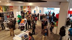 Nintendo NY opens its doors to fans from around the world - Polygon Nintendo Store, Nintendo World, World's Biggest, Around The Worlds, Fans, Doors, Display, Collection, Floor Space