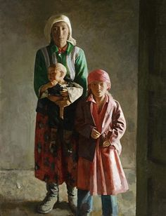 1994 TIBETAN FAMILY, artist Xu Weixin (徐唯辛; b1958, Urumqi, Xinijiang Proovince, China)