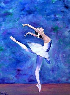 Photo to Painting Art Ballet, Ballerina Painting, Ballet Dancers, Ballerina Kunst, Ballet Drawings, Ballet Posters, Dance Paintings, Oil Paintings, Oil Pastel Art
