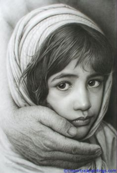 Girl and hand I can't believe this is a pencil drawing.