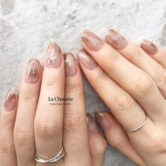 Pin on ネイル Korean Nail Art, Korean Nails, Nail Manicure, Gel Nails, Nail Jewels, Classic Nails, Rose Nails, Minimalist Nails, Perfect Nails