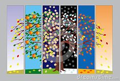 Illustration about Vertical banners and backgrounds with tree in different seasons. Illustration of four, spring, silhouette - 25295991 Different Seasons, Four Seasons, Science Of Happiness, South Orange, Year Resolutions, Biotechnology, Photo Quotes, Science Education, Meaningful Words