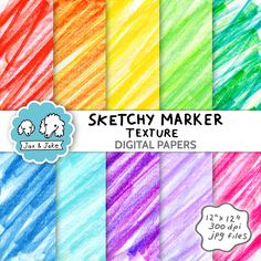 Our colorful Sketchy Marker Paper set is great to use as backgrounds in lesson plans as well as printed out for crafts, scrapbooking and classroom decor. #digitalpaper #clipart #texture #basicclipart Grade My Teacher, Teacher Pay Teachers, Marker Paper, Classroom Decor, Lesson Plans, School Stuff, Teaching Ideas, Markers, Backgrounds