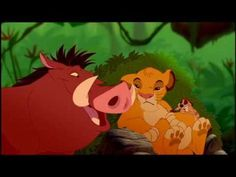 Who can refuse dancing to Pumba and Timon! The Lion King - Hakuna Matata (HD)… Disney Animated Movies, Disney Songs, Disney Movies, Disney Musik, Lion King Songs, Pixar, Lion King Hakuna Matata, Walt Disney Records, Happy Today