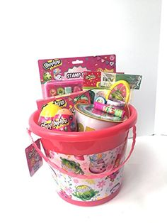 Shopkins Toys and Candy Easter Basket Bundle Filled with 10 Pieces Shopkins, Easter Ideas, Easter Baskets, Oc, Candy, Bear, Amazon, Baby Boy Toys, Amazons