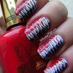 American Juli Acryl Nagel Kunst Ideen American of July Acrylic Nail Art Ideas Basketball Nails, Football Nail Art, 4th Of July Nails, July 4th, Patriotic Nails, Eyeliner, Acrylic Nail Art, Creative Nails, Blue Nails