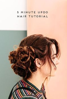 5 minute hair tutorial that looks like it took a whole lot longer. Click through for the simple technique that makes this hair tutorial as easy as can be.