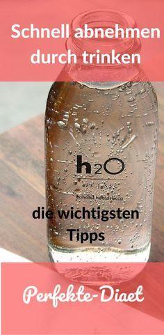 Erfahre wie du schneller abnehmen kannst indem du Wasser trinkst!