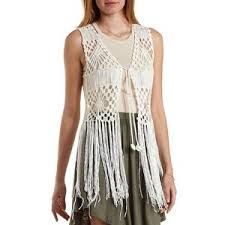 Free Crochet Vest Top Pattern : FREE CROCHET PATTERN VEST WITH FRINGE - Pesquisa Google ...