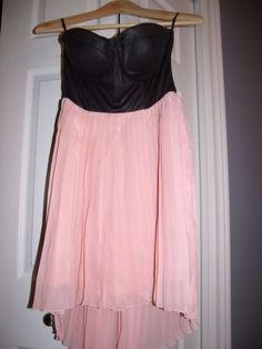 Available @ TrendTrunk.com Hi-Low Pink and Black Dress NWT - Mint Condition . By Material Girl by Madonna. Only $35!