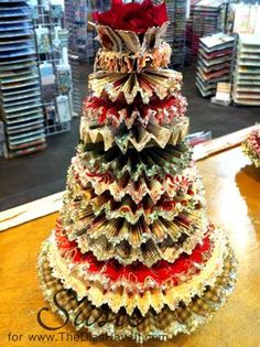 The Dies Have It: Twelve Rosette Layered Christmas Tree