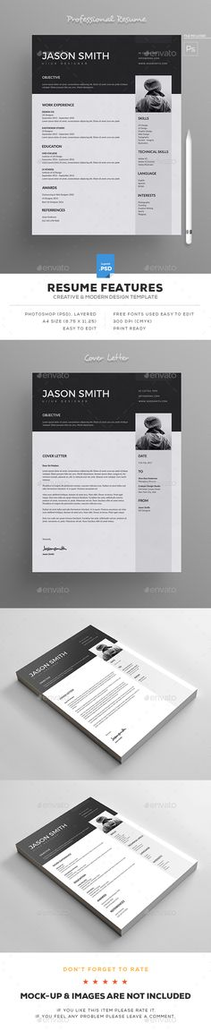 #Resume - Resumes Stationery Download here: https://graphicriver.net/item/resume/19311193?ref=alena994