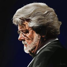 ©️Adam Howard / Adam Howard Art 2021 George Lucas, Award Winner, Over The Years, Gifts For Friends, Che Guevara, United States, Portrait, Illustration, Fictional Characters