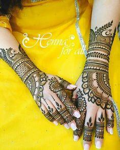 Mehendi to Applebridal henna 💛💛 // by .No automatic alt text available. Wedding Henna Designs, Engagement Mehndi Designs, Latest Bridal Mehndi Designs, Full Hand Mehndi Designs, Modern Mehndi Designs, Dulhan Mehndi Designs, Mehndi Design Pictures, Mehndi Designs For Fingers, Latest Mehndi Designs